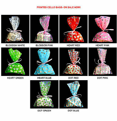 PRINTED CELLO BAGS-100EAPACK Bakery Cookie cellophane bag 3 sizes 10 styles-
