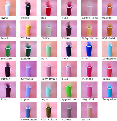 12X25yds Tulle Spool Wedding Bridal Party Favor Fabric Decoration Tutu Crafts