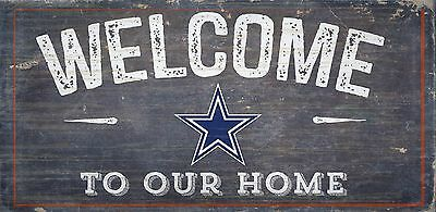 Dallas Cowboys Welcome to our Home Wood Sign - NEW 12 x 6  Decoration Gift
