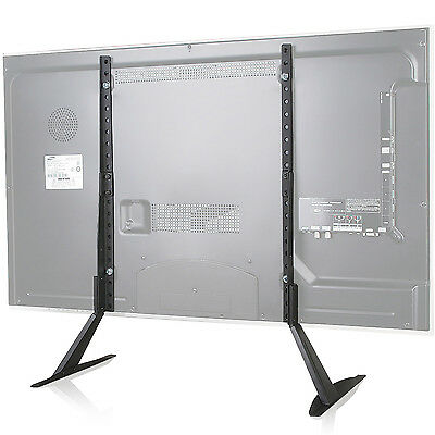 WALI Universal LCD Flat Screen TV Table Top Stand  Base fits 22 to 65 TVS001