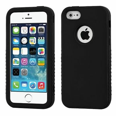 For Apple iPhone 55SSE Black Verge Hard Silicone Hybrid Rubber Case