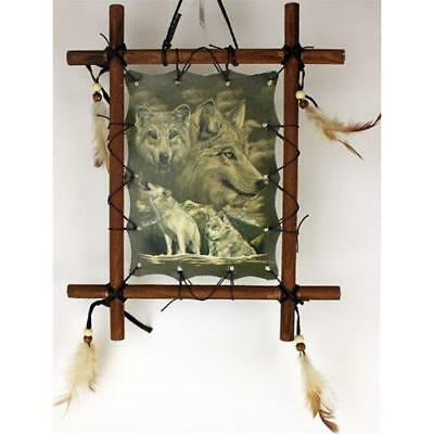 1 X Framed Indian WOLVES Picture Native American Art 9 x 11 including frame
