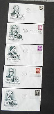 Lot Set of 5 1956 First Day Covers 30c Lee to 5 Hamilton Scott 1049 - 1053