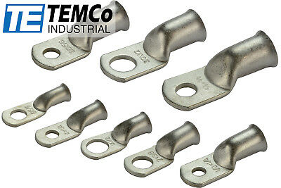 TEMCo Tinned Copper Lug Ring Terminals Battery Wire Welding Cable AWG