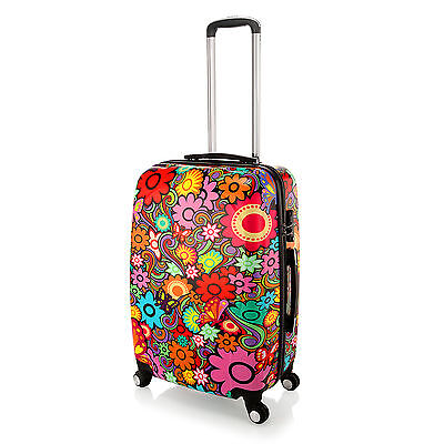 24 Flower Butterfly Printed PC HardCase 4 Wheel Travel Luggage Trolley Suitcase