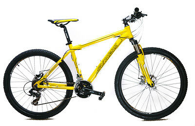 17 Sundeal M1 26 Hardtail Mountain Bike Disc Shimano 3x7 MSRP 349 Yellow NEW