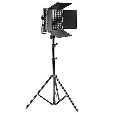 Neewer 2-pack Bi-color 660 LED Video Light and Light Stand Kit with Barndoor