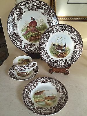 Spode Woodland 5pc- Place Setting Set - Made in England NEW In Box