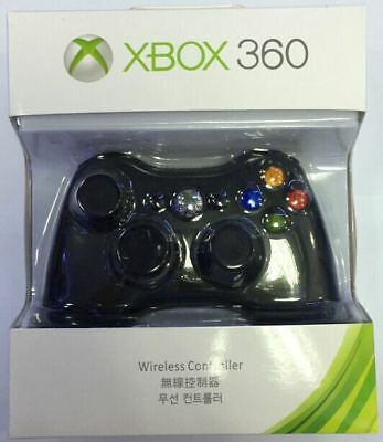 Microsoft Xbox 360 Wireless Controller Remote BLACK - Brand NEW USA Seller