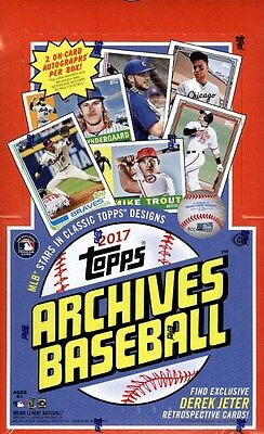 2017 TOPPS ARCHIVES BASEBALL HOBBY 10 BOX CASE BLOWOUT CARDS