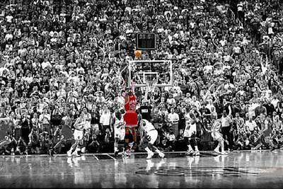 Michael Jordan The Last Shot Poster 24 x 36  Chicago Bulls