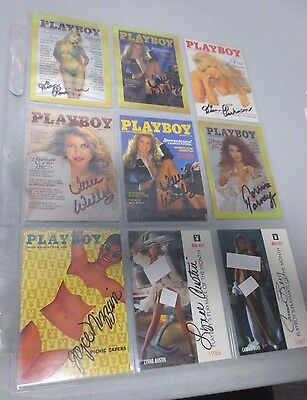 9 Assorted 1995-96 Playboy Autographed Non-Sport Cards g
