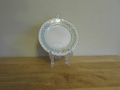 W S George China Radisson 6 Bread Butter Plate White Yellow Tulips Blue Leaves
