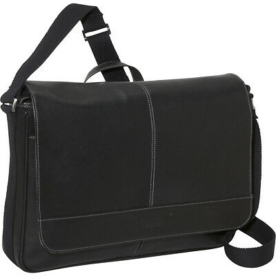 Kenneth Cole Reaction Come Bag Soon - Colombian Leather Messenger Bag NEW