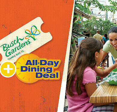 BUSCH GARDENS TAMPA TICKETS SAVINGS - ALL DAY DINING A PROMO DISCOUNT TOOL