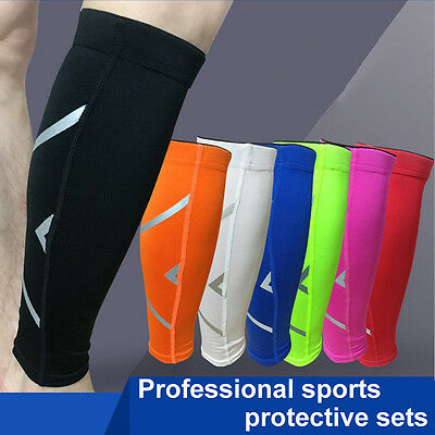 1 Pair Unisex Calf Support Graduated Compression Leg Sleeve Sports Socks 7 Color
