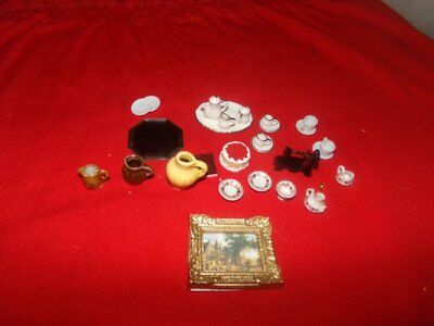 LOT OF NEW MINATURE ACCESSORIES FOR DOLL HOUSES