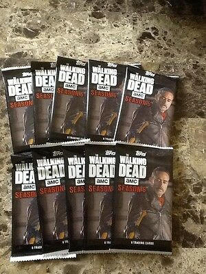 LOT OF 10 2017 TOPPS WALKING DEAD SERIES 6 FACTORY SEALED CARD PACKS