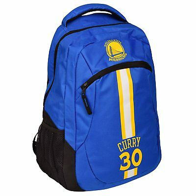 Stephen Steph Curry 30 Warriors Jersey Backpack gym Book Bag NBA ACTION Blue