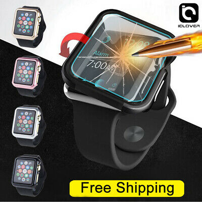 Apple Watch Series 321 3842mm Snap On Bumper Hard Case Cover-Screen Protector