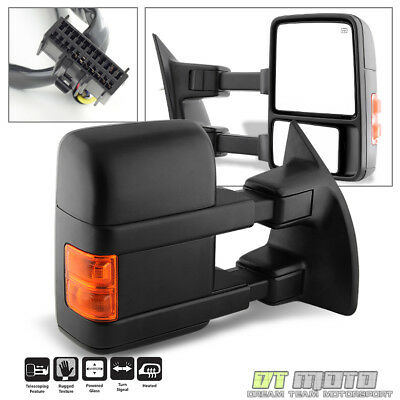 RIGHT 2008-2016 Ford F250 Super Duty Power Heated LED Tow Mirror Passenger Side