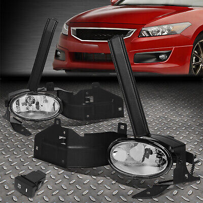 FOR HONDA ACCORD 08-10 2DR OE BUMPER CLEAR FOG LIGHT LAMP KIT WITH SWITCH-WIRE