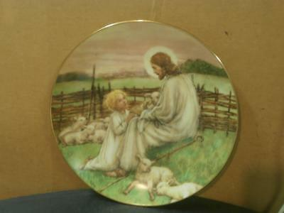 WS GEORGE THE LORD IS MY SHEPHERD PORCELAIN 8 12 PLATE