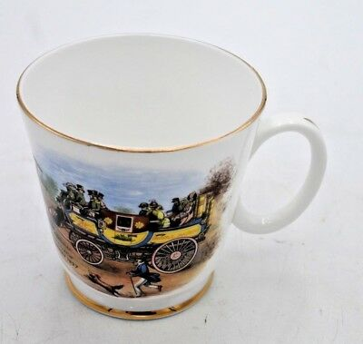 ROYAL GRAFTON ENGLAND FINE BONE CHINA CUP VINTAGE STEAM COACH by Gurney 1827