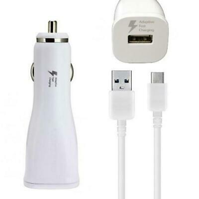 New OEM Samsung Fast Charging Car Charger Power Adapter and Cable