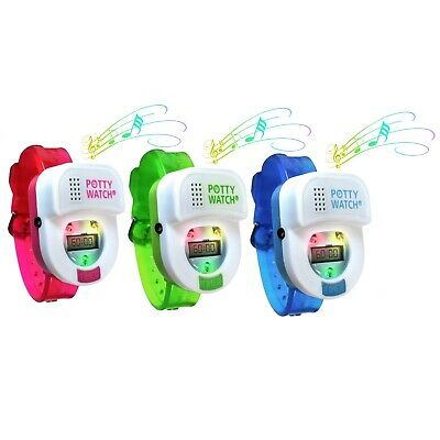 Potty Time Watch Toddler Toilet Training Aid Timer Reminder Pink Green or Blue