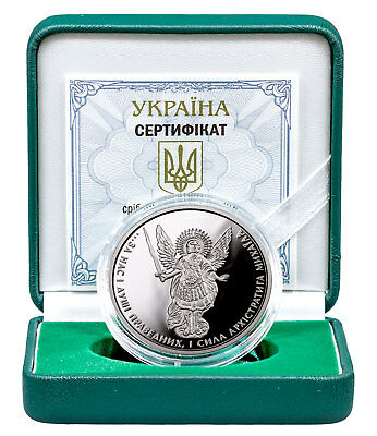2017 Ukraine 1 oz- Silver Archangel Michael Proof Original Mint Capsule SKU51694