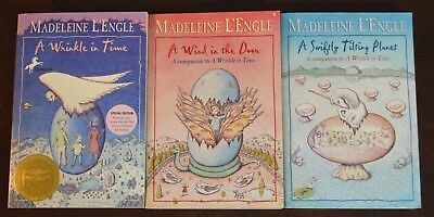 Set of 3 of A Wrinkle in Time Series by Madeleine LEngle Many Waters L4