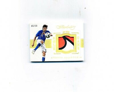 2015-16 Flawless Soccer Andrea Ranocchia Sole Of the Game Shoe 510-Read Des-