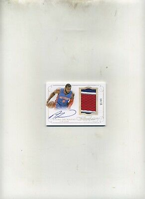 2014-15 Panini Flawless Bask- Andre Drummond 3 Color Premium PatchAuto 425