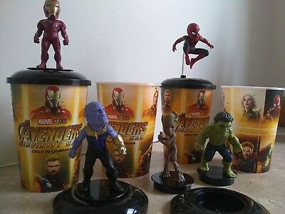 Avengers Infinity War Theater Exclusive Cups and Toppers - Set of Five