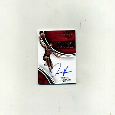 2015-16 Panini Immaculate Bask- Dennis Rodman Gold Autograph 4260