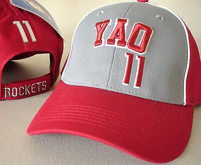 YAO MING 11 HOUSTON ROCKETS SIZE YOUTH ADJUSTABLE HAT CAP NEW NWT