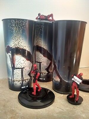 Deadpool 2 Movie Theater Exclusive Cups and Toppers - Set of 3