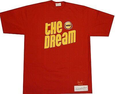 Houston Rockets Hakeem Olajuwon The Dream Mitchell Ness Oversize Shirt  RUNS BIG