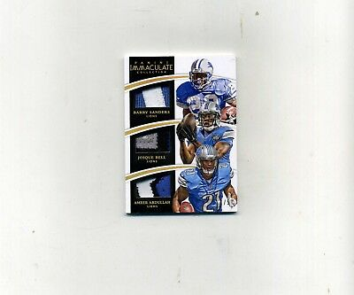 2015  Panini Immaculate Football Barry SandersJ -BellA- Abdullah Patches 15