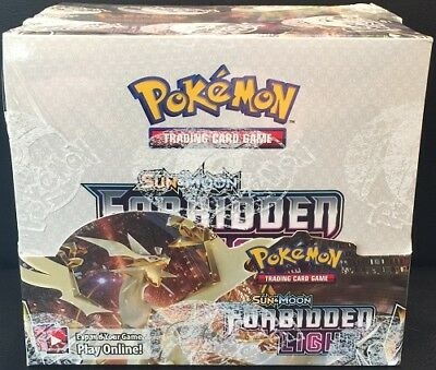 POKEMON TCG SUN - MOON FORBIDDEN LIGHT BOOSTER SEALED BOX ENGLISH PLS READ DESC