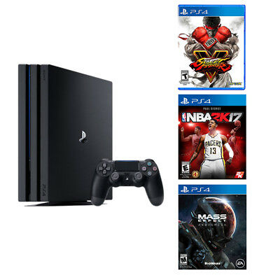 PlayStation 4 Pro 1TB Console-Street Fighter V-NBA 2K17-Mass Effect Andromeda