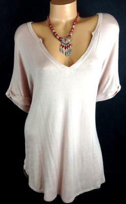 Forever 21 rose pink womens plus size v-neck dolman sleeve spandex knit top 0X