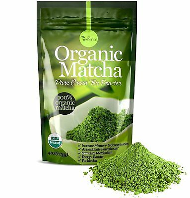 ▶▶▶100 ORGANIC MATCHA POWDER Unsweetened Pure Green Tea Natural Culinary Grade