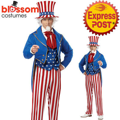 CA720 Uncle Sam 4th July American Patriotic Independence Day Fancy Dress Costume