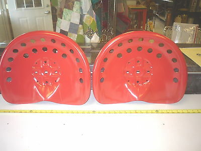 6 NEW RED ANTIQUE STYLE HORSE  FARM MACHINE - TRACTOR METAL BAR STOOL  SEAT