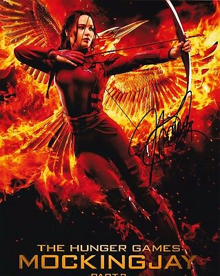 Jennifer Lawrence Autographed 8x10 Photo The Hunger Games 1