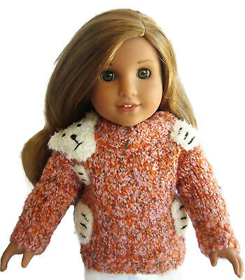 For 18 American Girl Doll Clothes Bear Hug Sweater Winter