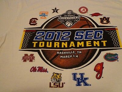 New  2012 SEC TOURNAMENT Nashville TN  T-SHIRT  Medium   M0
