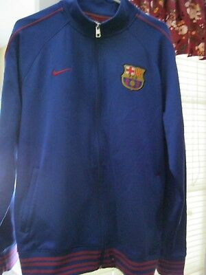 nike fc barcelona jacket men XLFull Zip hardly worn